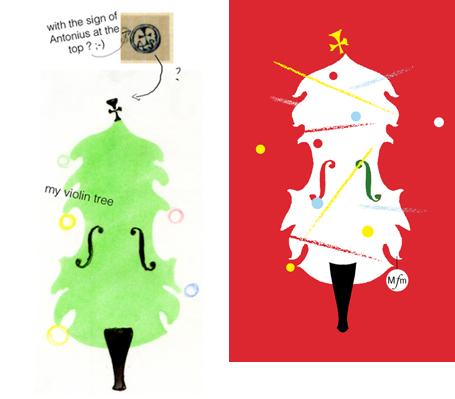 e217b447500ea Avec une figuration recto/verso (cover and back-cover) du Stradi-Christmas  tree. Les titres (au verso) s'inscriraient en mouvements selon le quatuor  de ...